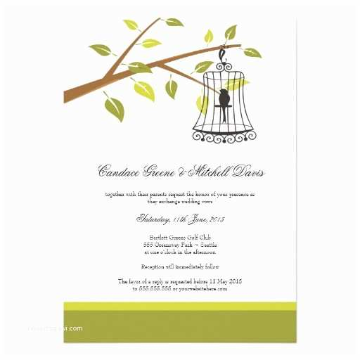 "Bird Wedding Invitations Vintage Bird Cage Wedding Invitations 5"" X 7"" Invitation"