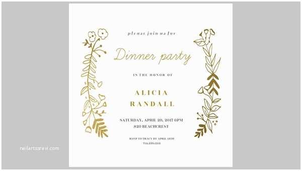 Birthday Dinner Invitation Lunch Party Invitation