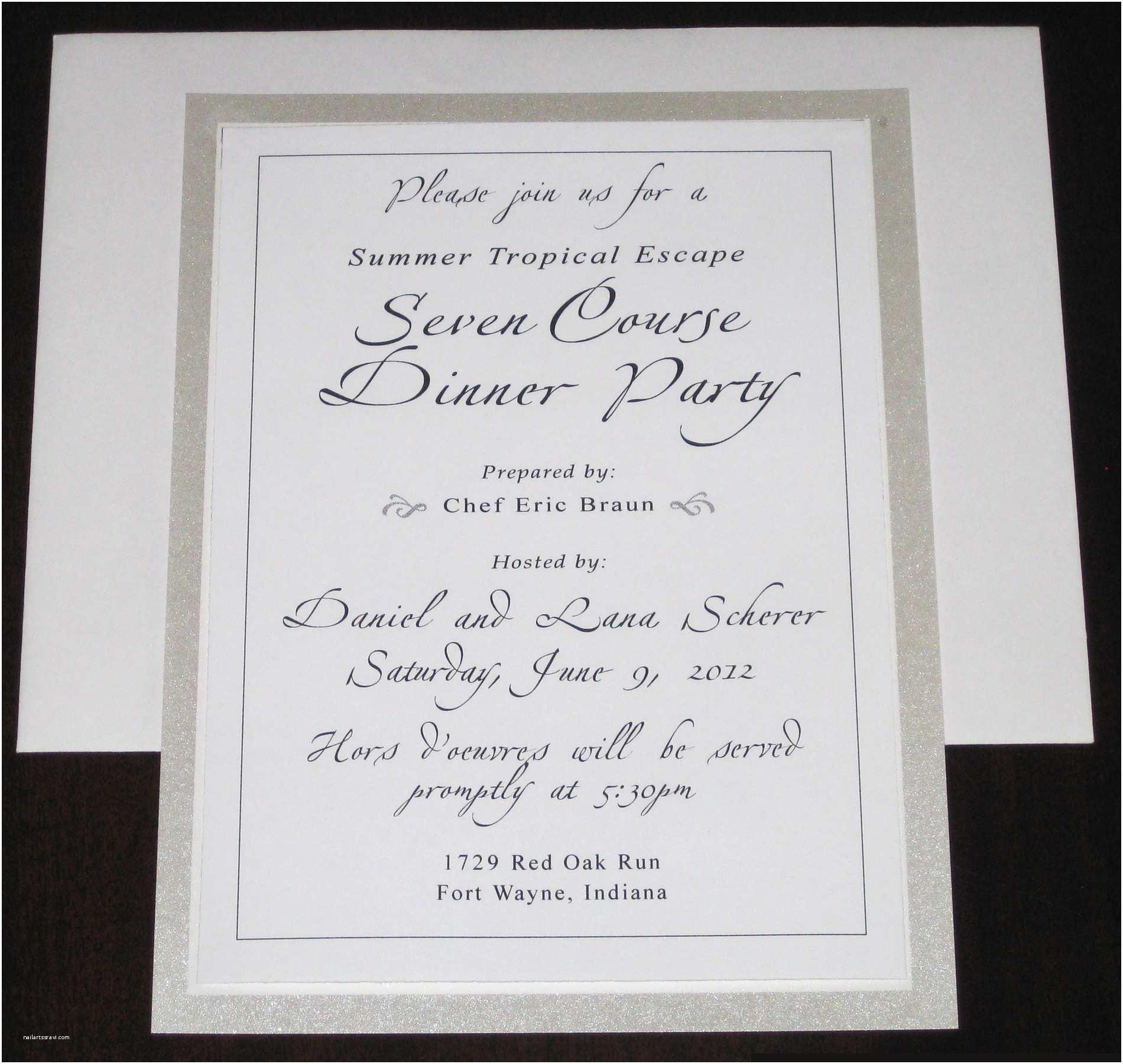 Birthday Dinner Invitation Party Wording