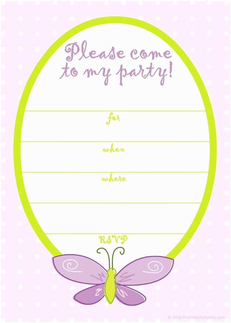 Birthday Invitation Cards Birthday Invitations Templates for Girls Free