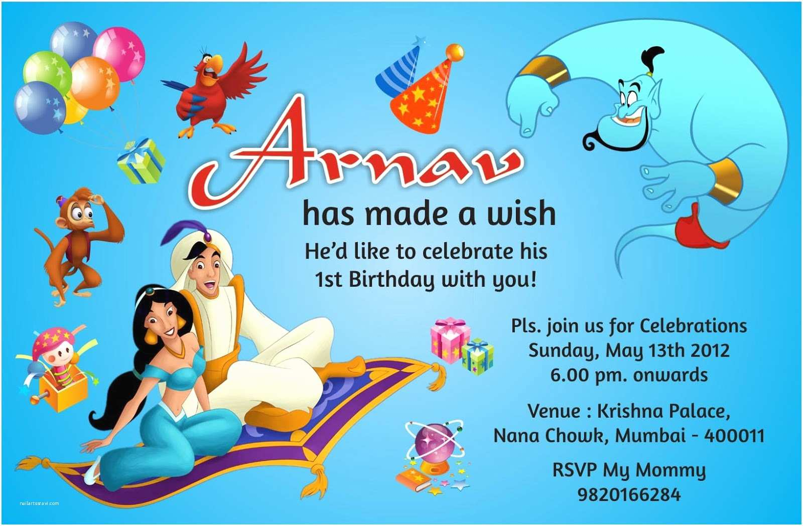 Birthday Invitation Cards Birthday Party Invitation Card Invite Personalised Return