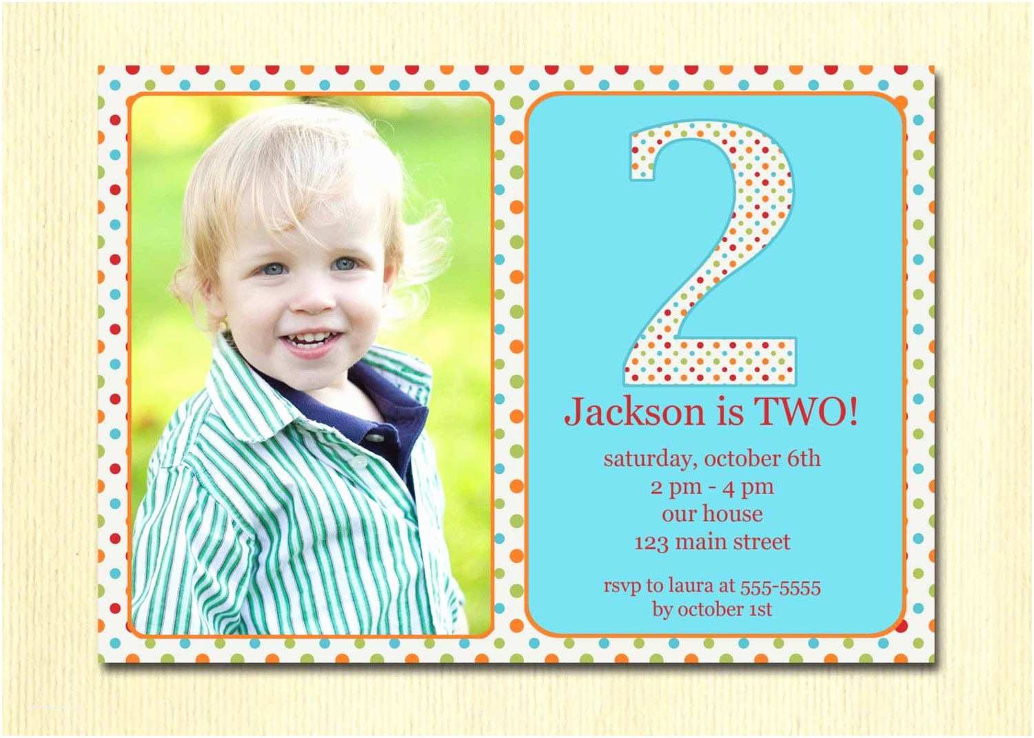 Birthday Invitation Cards Get Free Template 2 Year Old Party