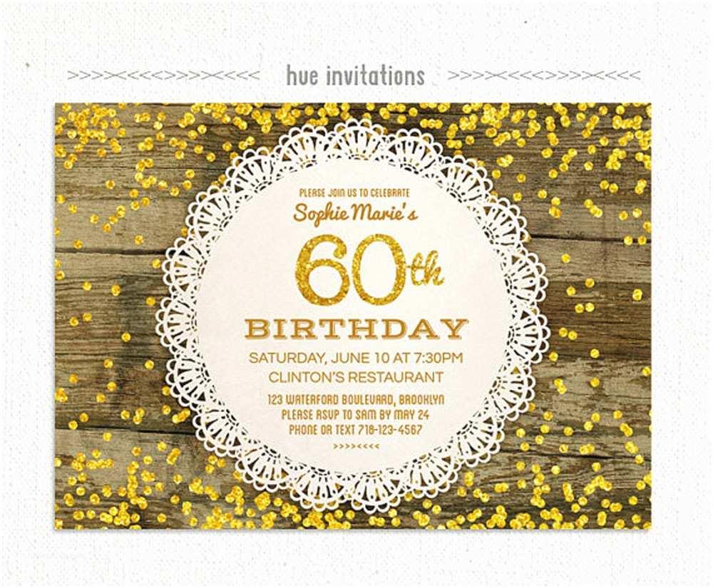 Birthday Invitation Ideas 20 Ideas 60th Birthday Party Invitations Card Templates