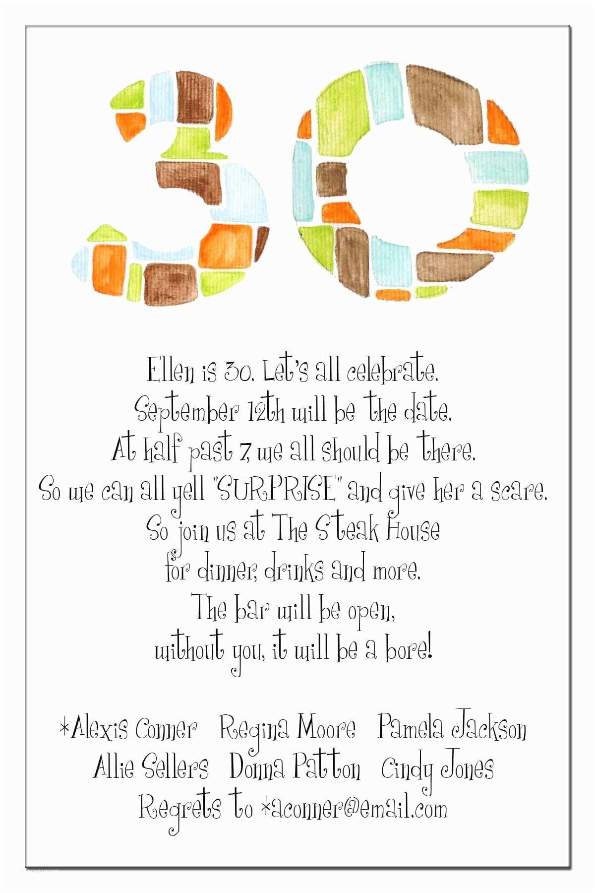 Birthday Invitation Message 20 Interesting 30th Birthday Invitations themes – Wording