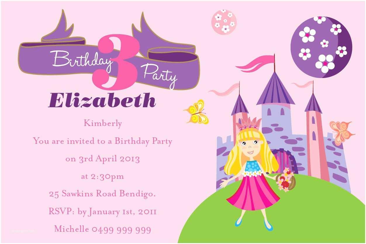 Birthday Invitation Message Birthday Invitation Wording for Kids