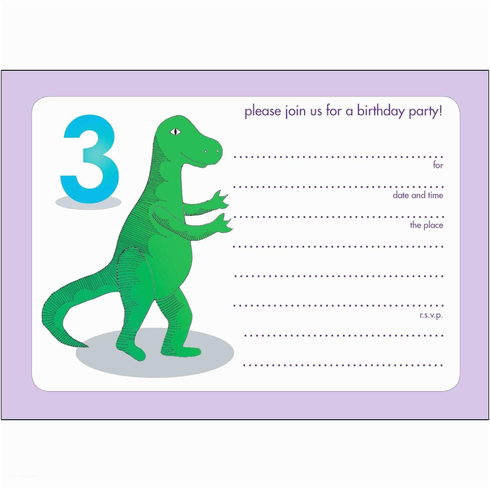 Birthday Invitation Template 17 Dinosaur Birthday Invitations How to Sample Templates