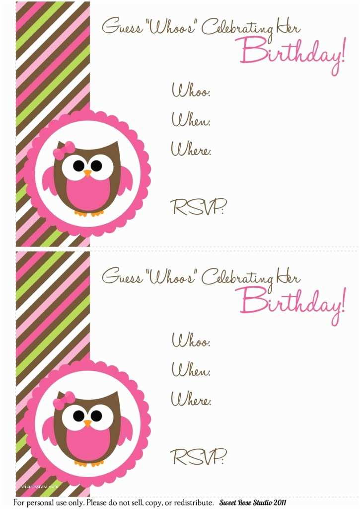 Birthday Invitation Template 41 Printable Birthday Party Cards & Invitations for Kids