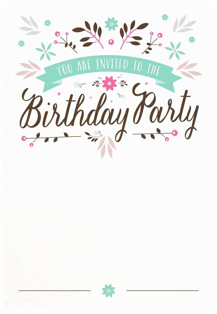 Birthday Invitation Template Best 25 Templates Ideas On Pinterest