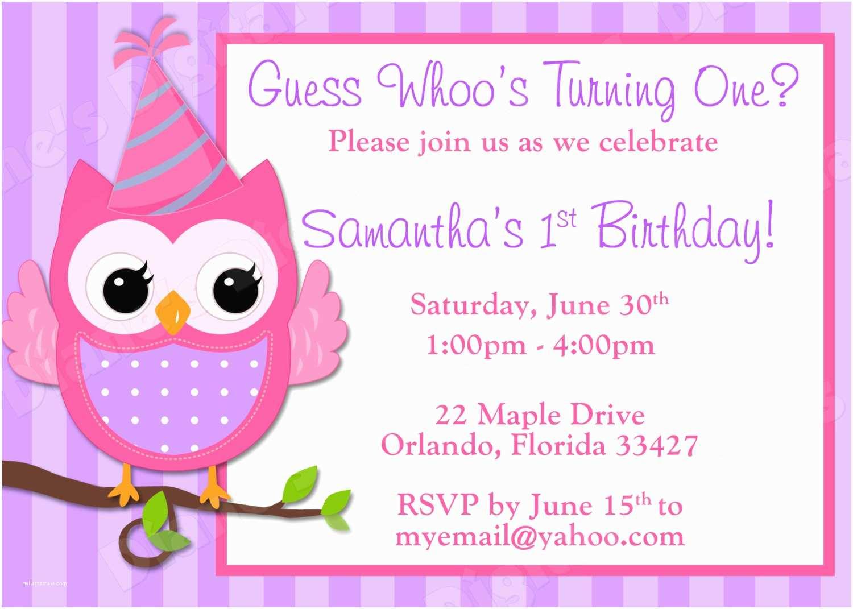 Birthday Invitation Templates Owl Birthday Invitations Free