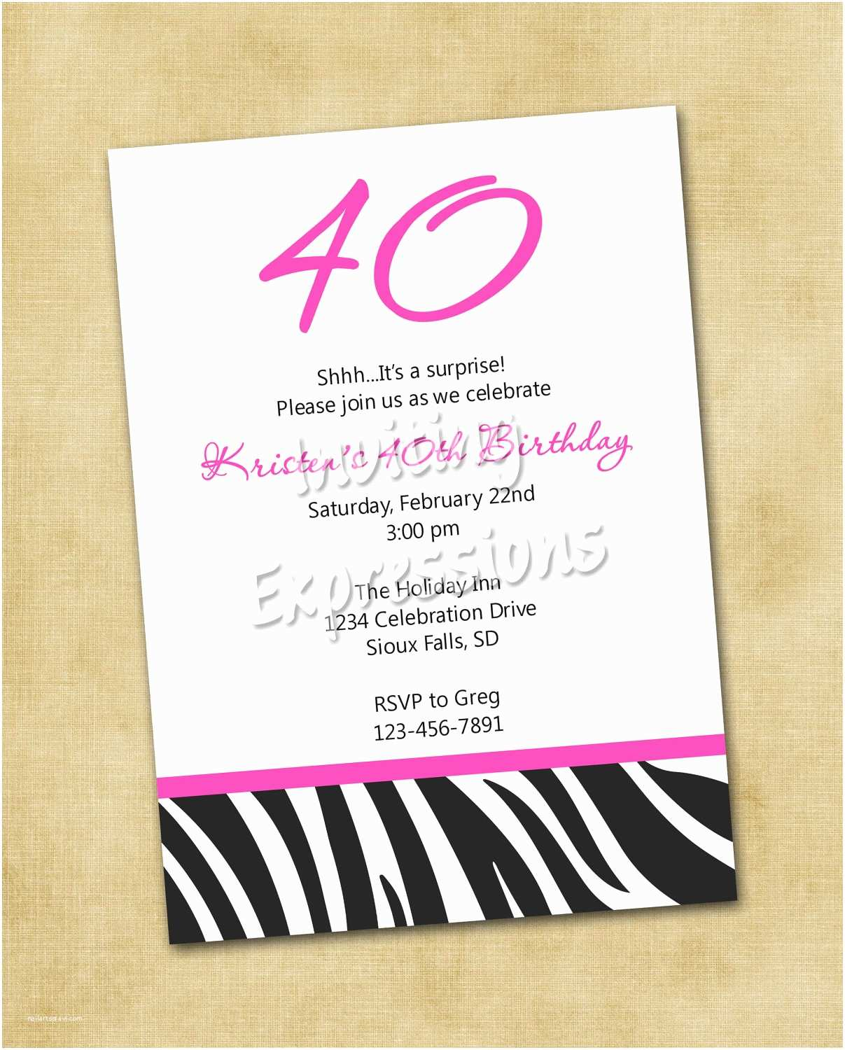 Birthday Invitation Wording Top 13 40th Party