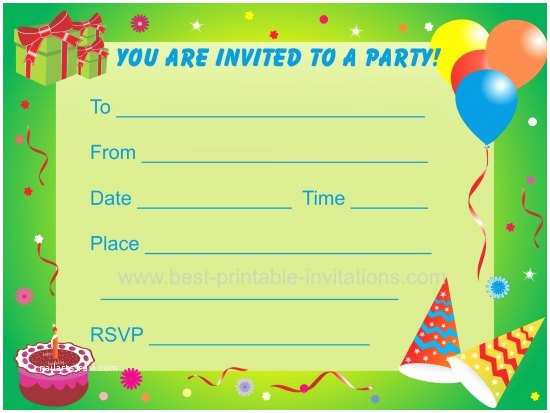 Birthday Invitations for Kids Birthday Party Invitations for Kids