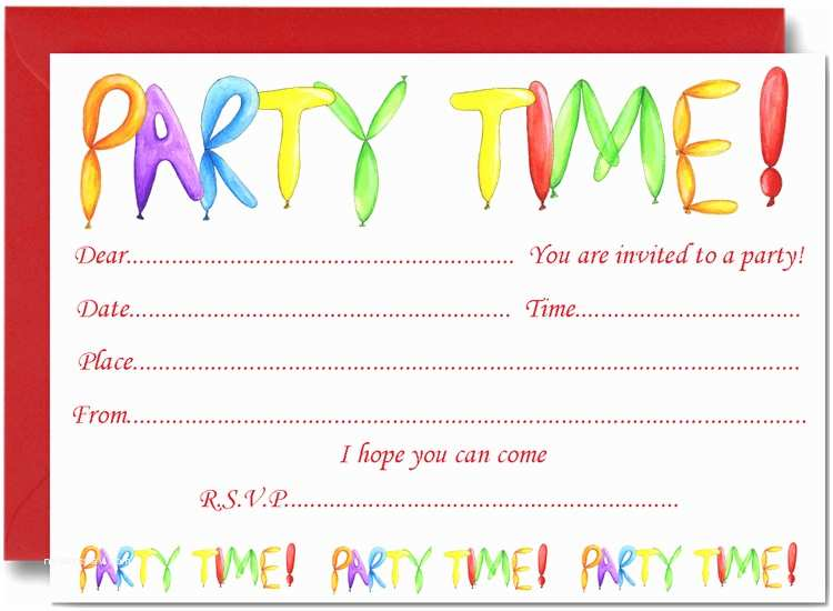 Birthday Invitations for Kids Kids Birthday Party Invitation Cards