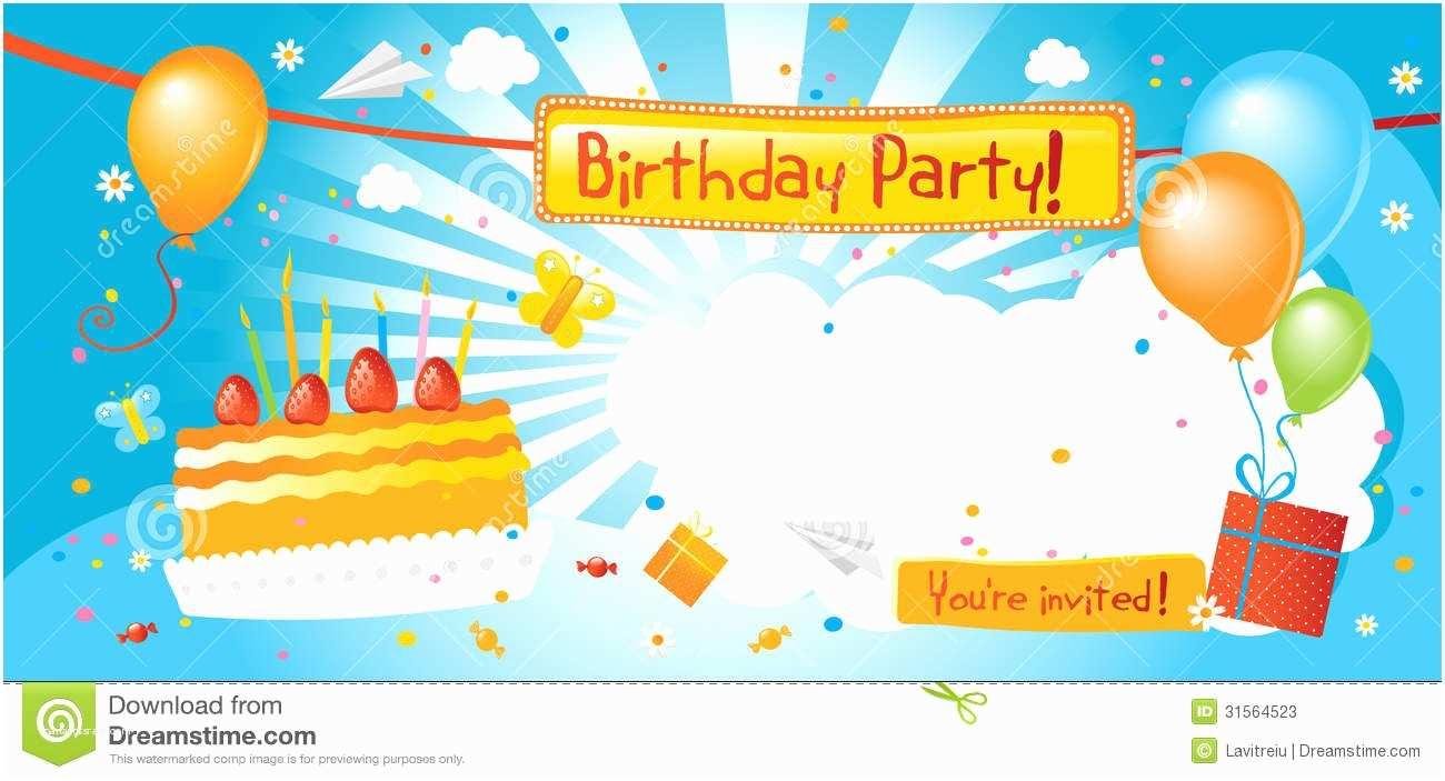 Birthday Invitations for Kids Kids Birthday Party Invitations