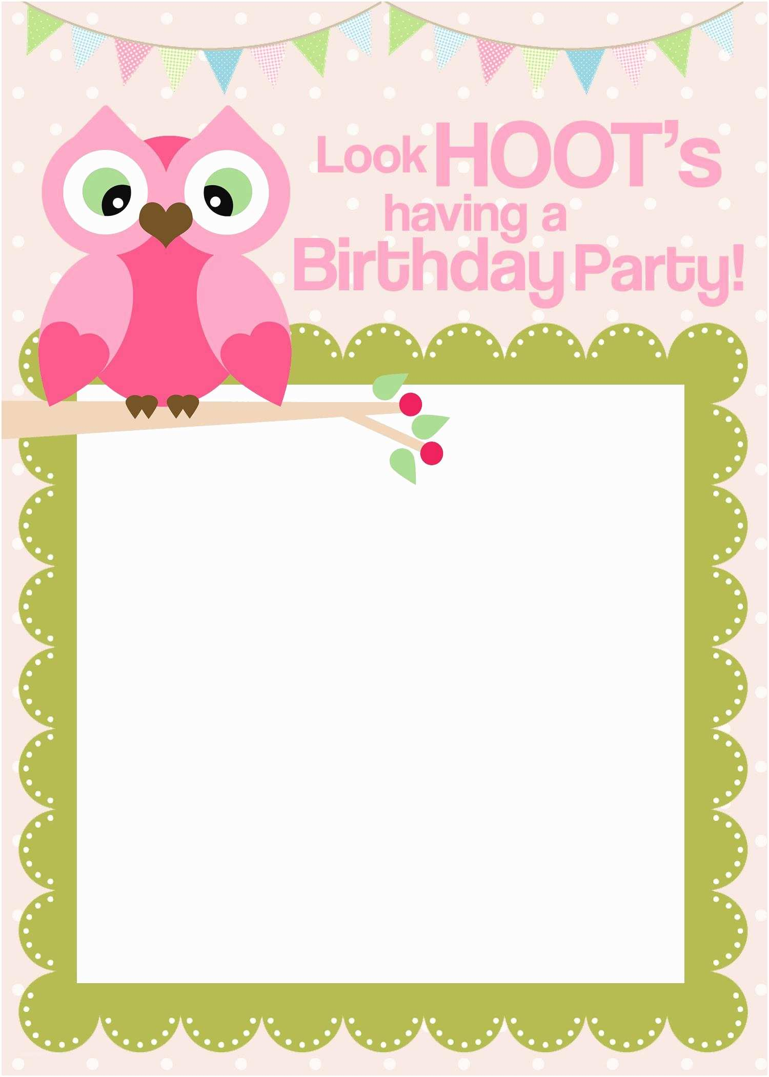 Birthday Invitations Online Free Printable Party Templates