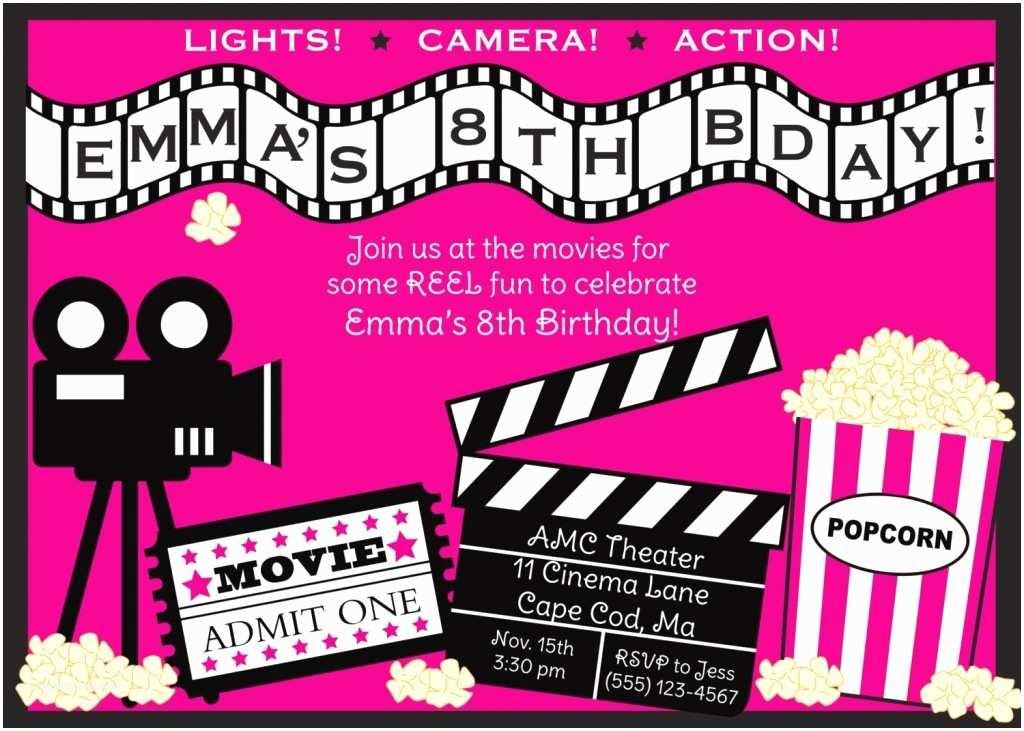 Birthday Invitations Template Movie Invitations Template