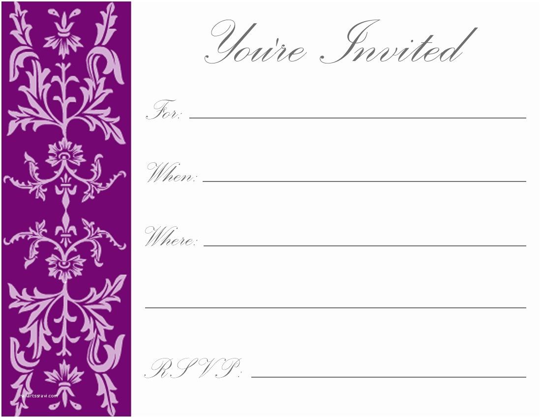 Birthday Invitations Template Printable Birthday Invitation Template