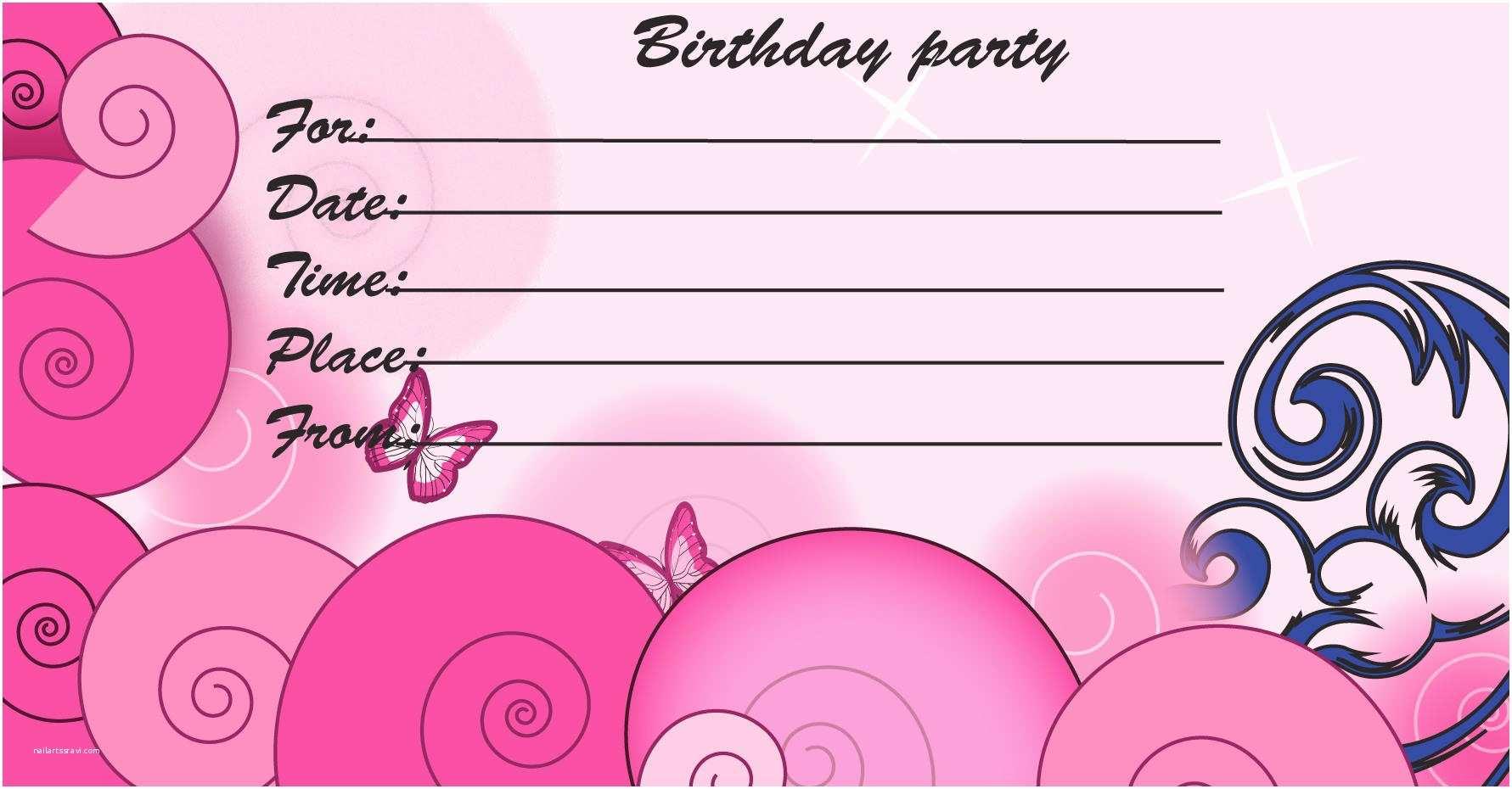 Birthday Invitations Templates 19 Inspirational Birthday Party Invitation Cards and