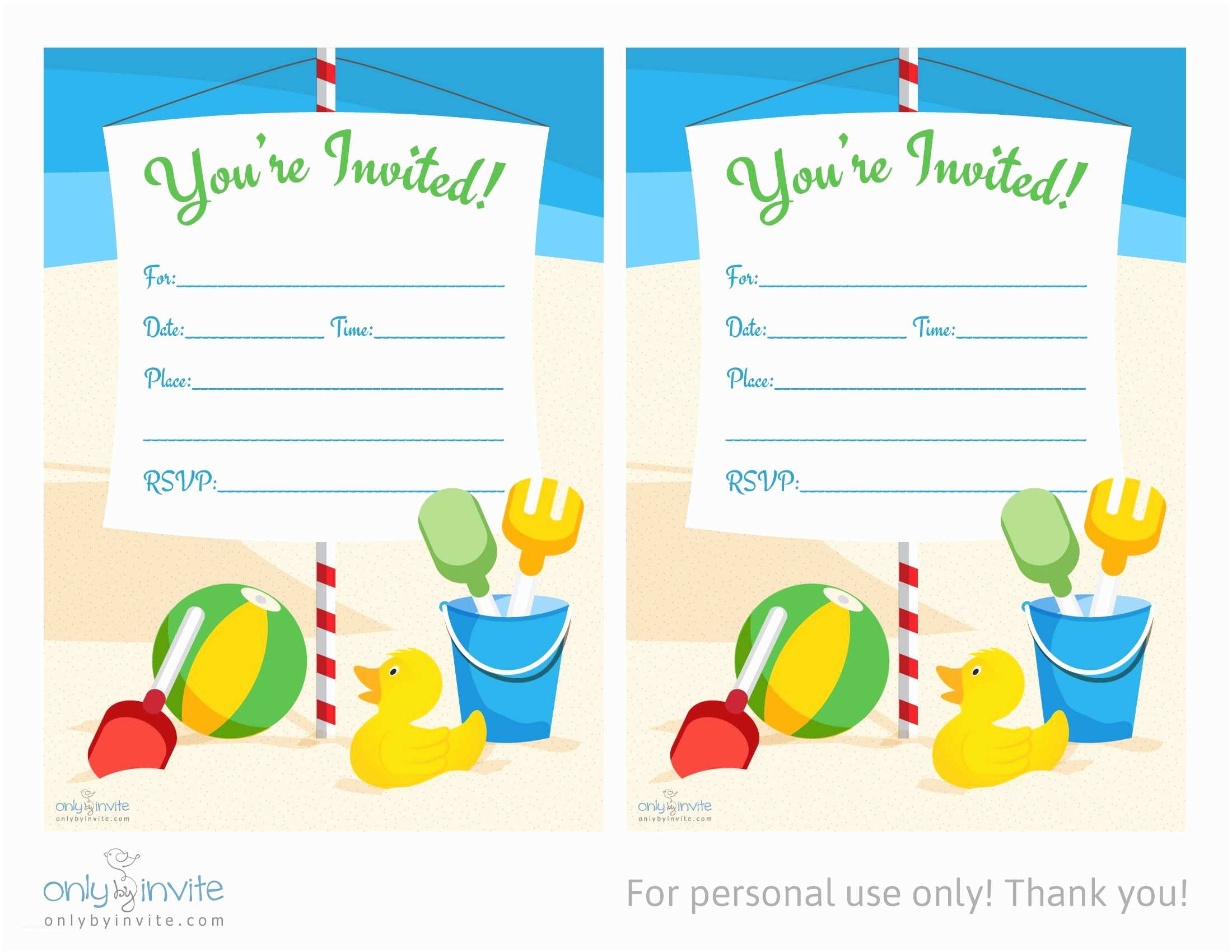 Birthday Invitations Templates Card Template Blank
