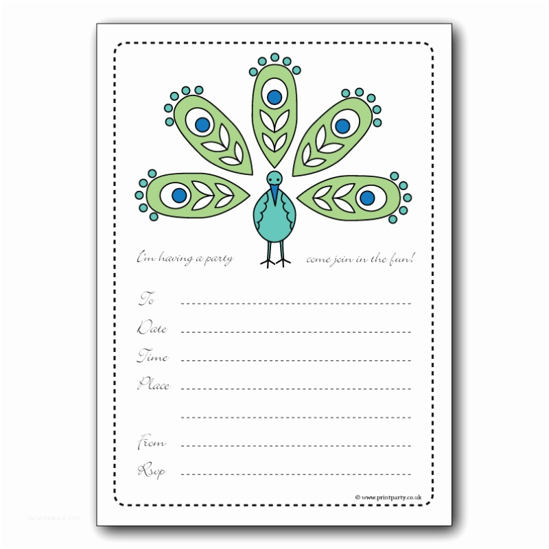Birthday Invitations Templates Party Invitations Colorfull Party Invitaton Template