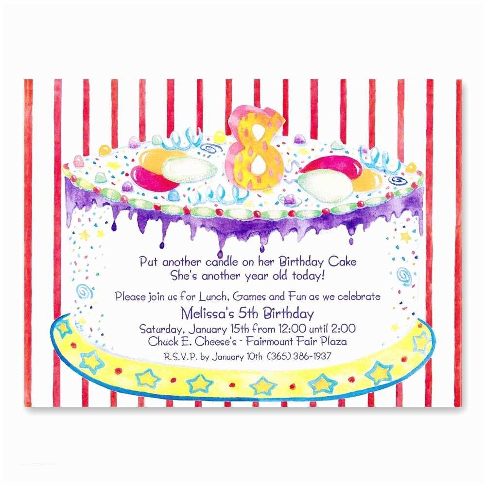 Birthday Invitations Wording 8th Party