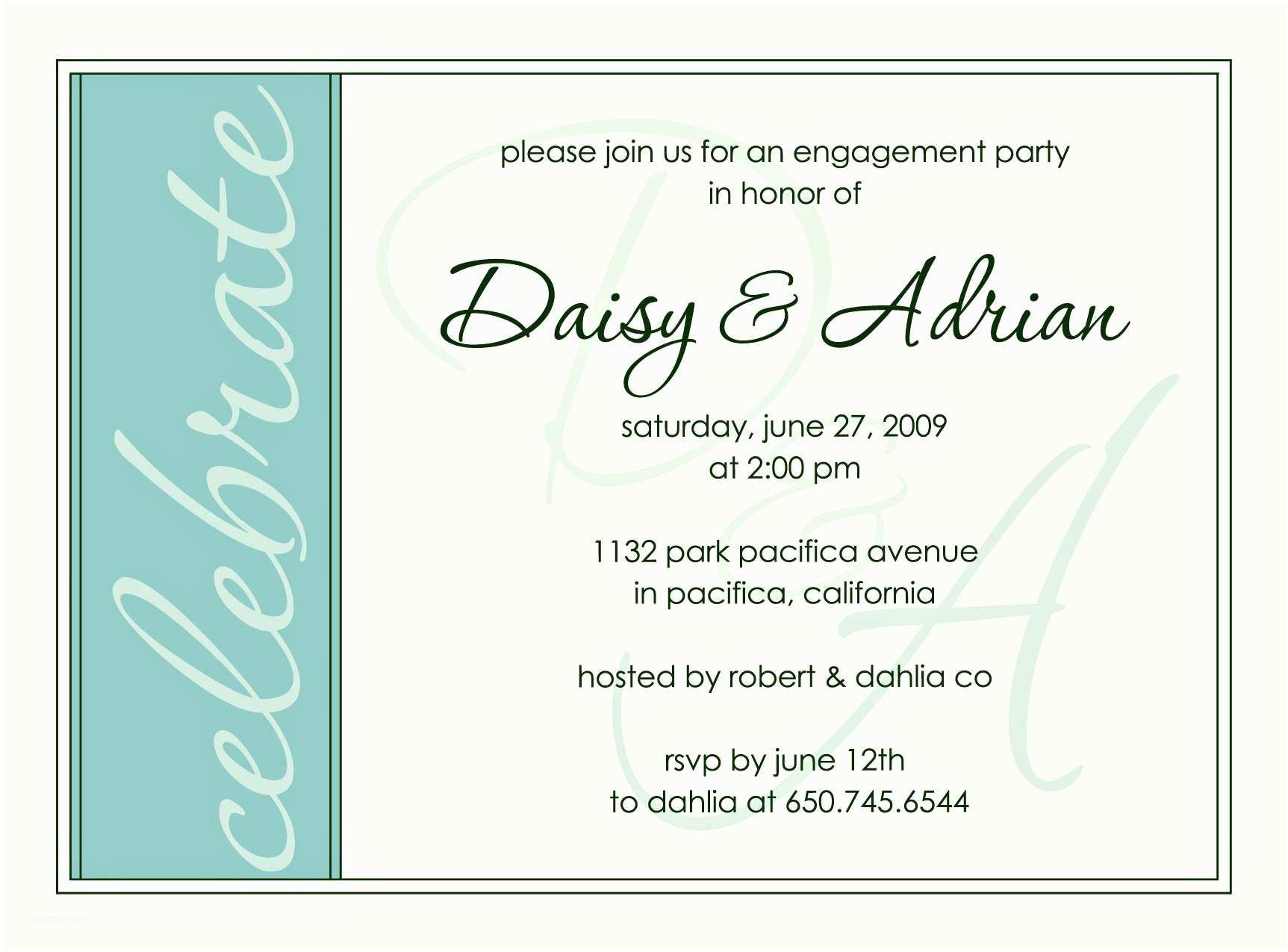 Birthday Invitations Wording Engagement Party Invite