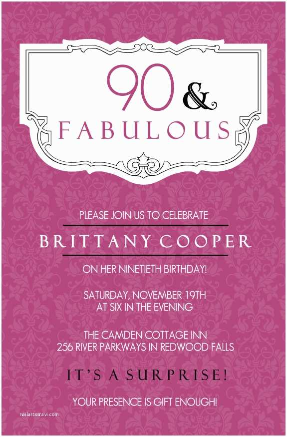 Birthday Invite Wording 90th Birthday Invitation Wording 365greetings