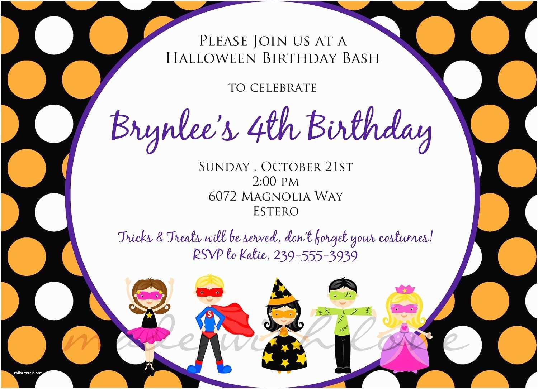 Birthday Invite Wording Kids Party Invitation Bagvania Free