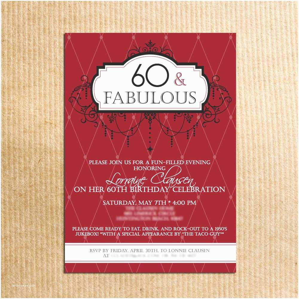 Birthday Party Invitation Ideas 20 Ideas 60th Birthday Party Invitations Card Templates