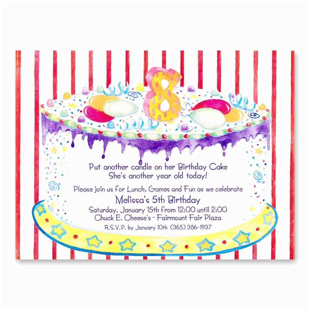 Birthday Party Invitation Message 8th Invitations Wording
