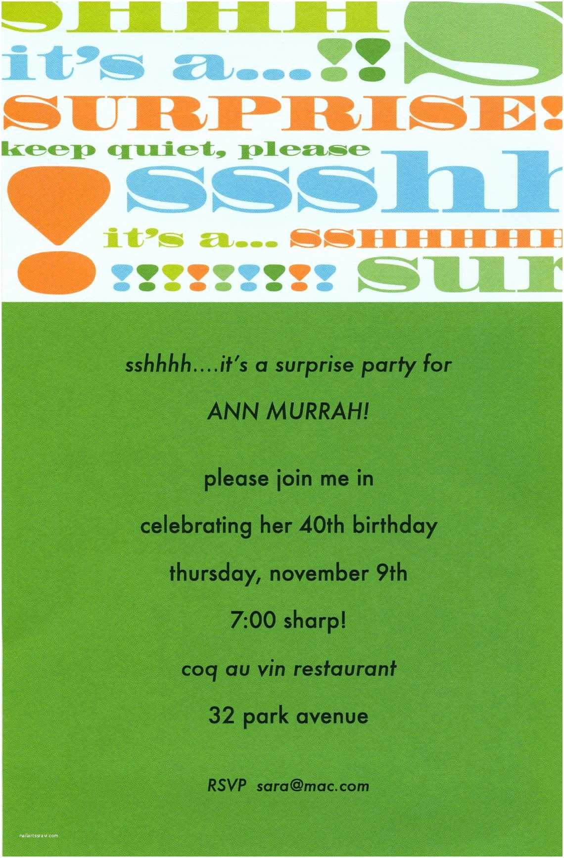 Birthday Party Invitation Message Amazing Surprise Wording