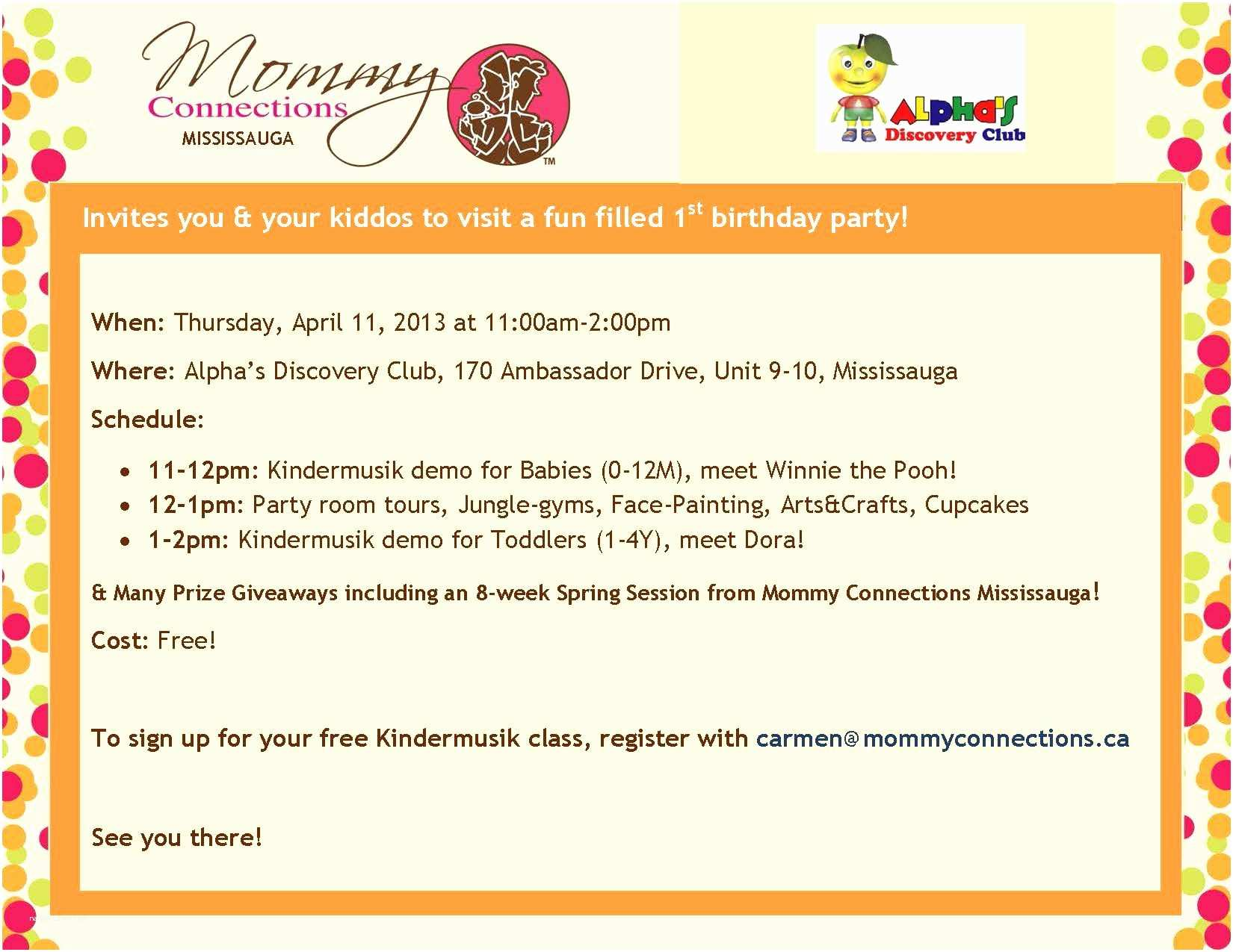 Birthday Party Invitation Message Email Templates Free