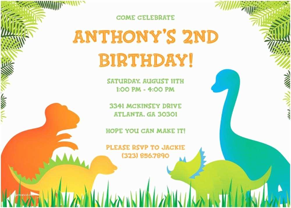 Birthday Party Invitation Template 17 Dinosaur Birthday Invitations How to Sample Templates