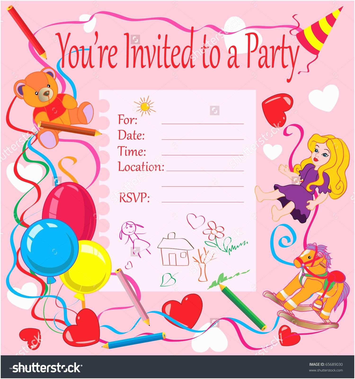 Birthday Party Invitation Template 20 Birthday Invitations Cards – Sample Wording Printable