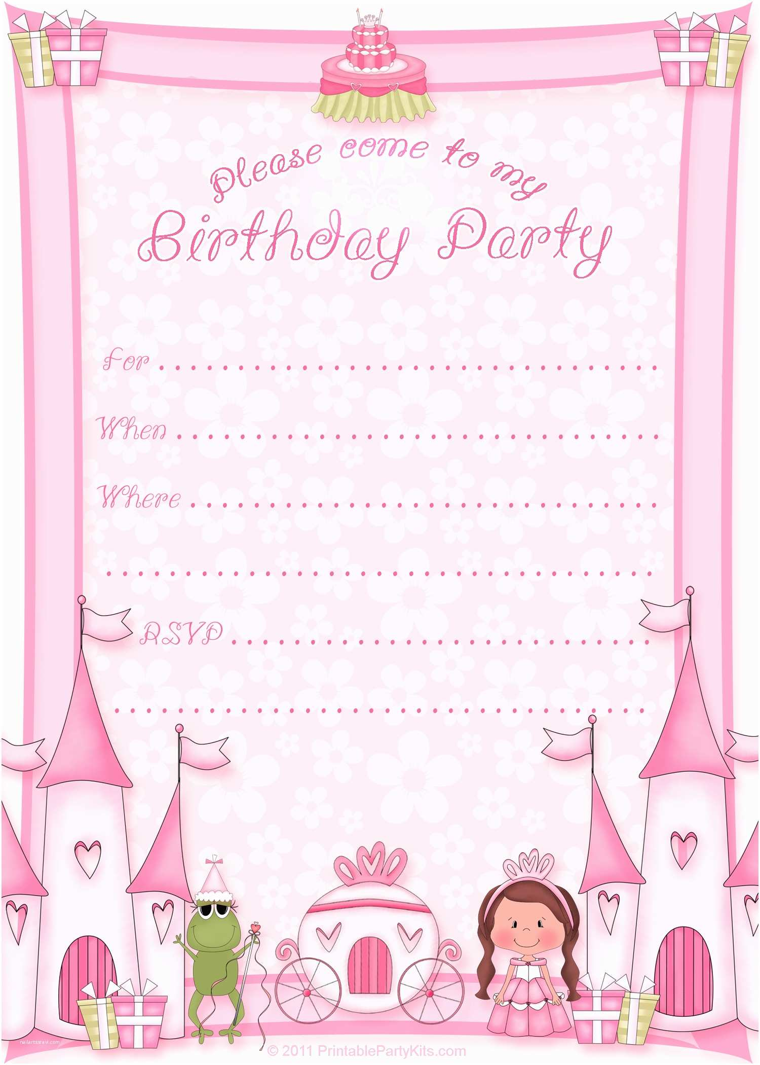 Birthday Party Invitation Template 50 Free Birthday Invitation Templates – You Will Love