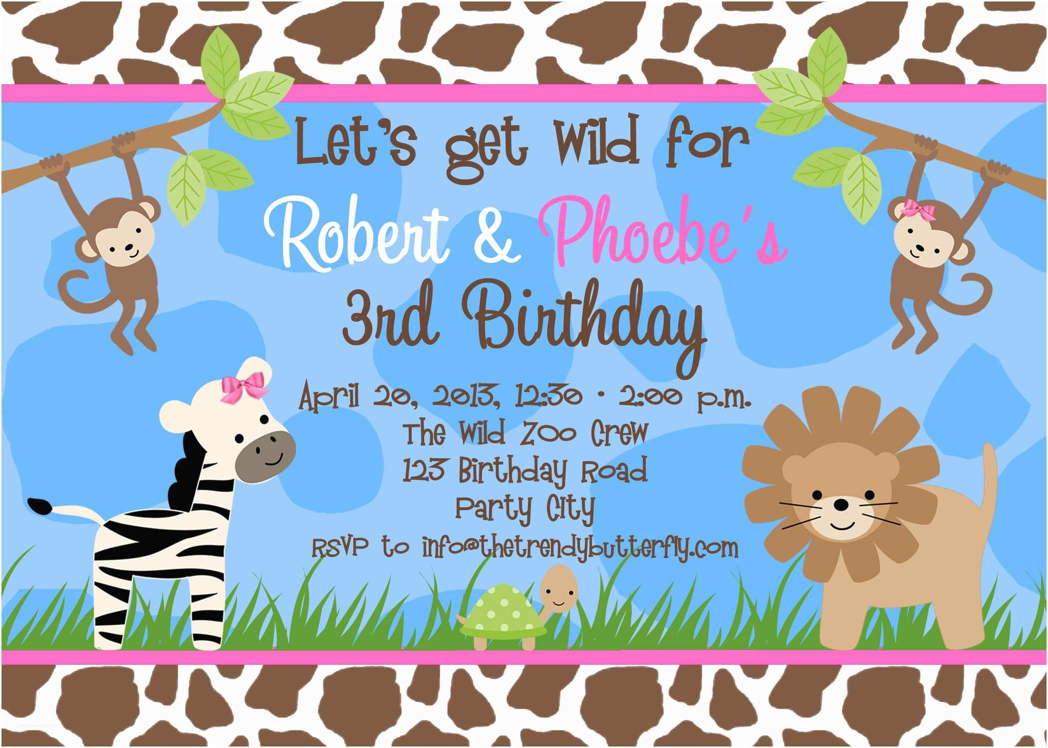 Birthday Party Invitation Template Free Birthday Party Invitation Templates