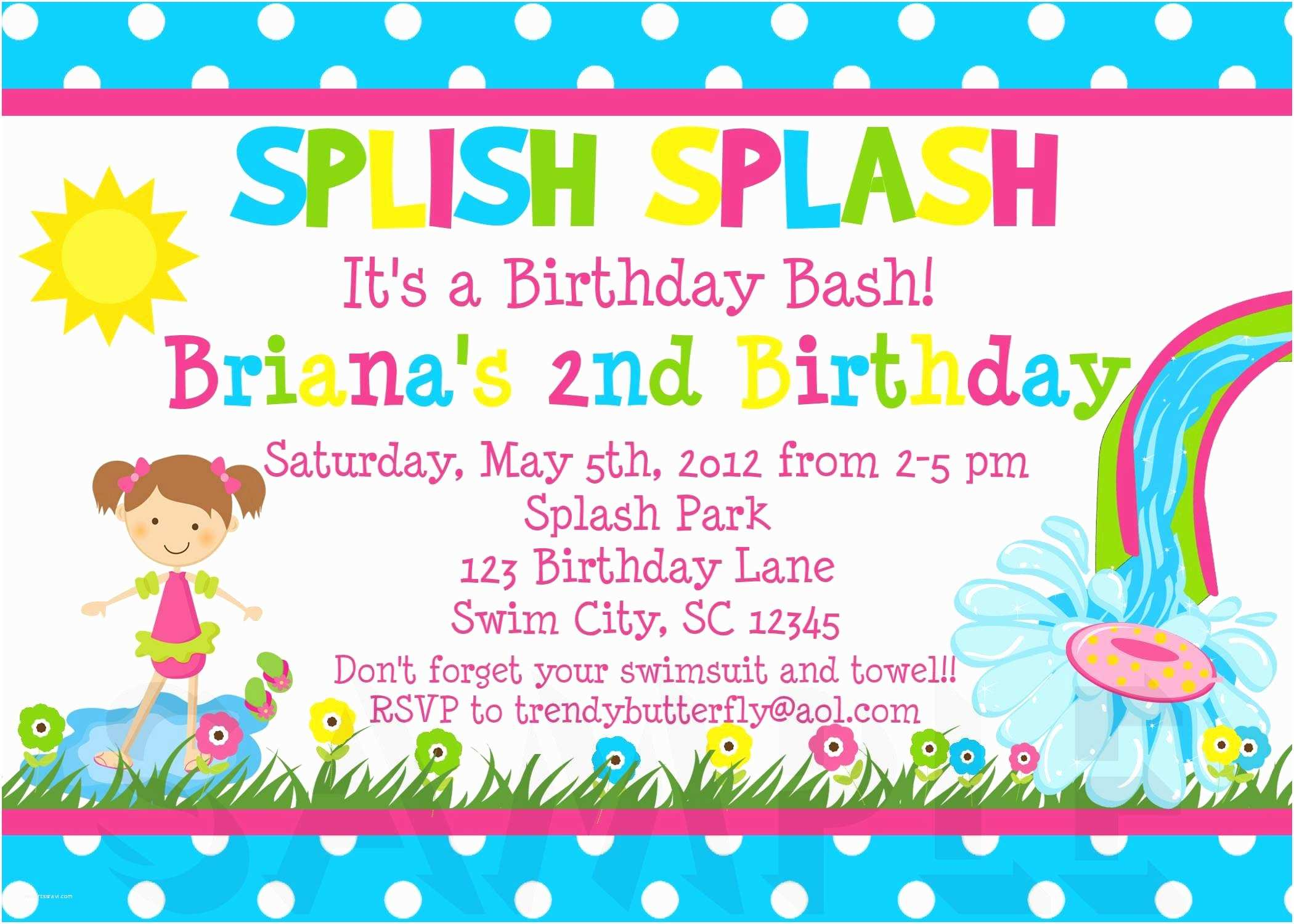 Birthday Party Invitation Template Image for Free Printable Kids Birthday Party Invitations