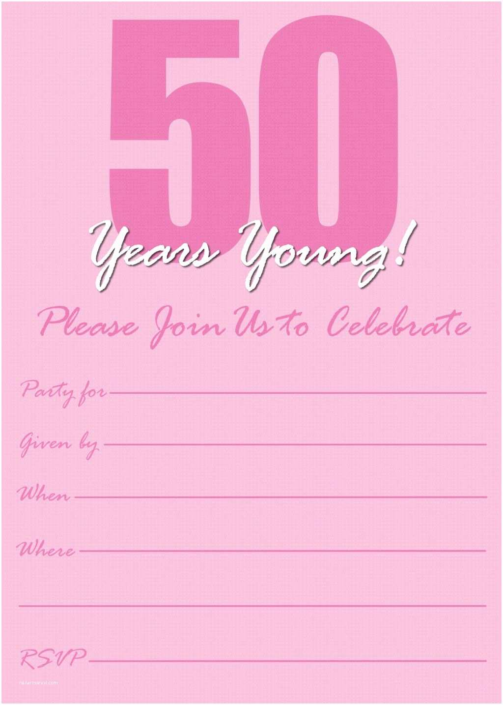 Birthday Party Invitation Template Templates For 50th Invitations 80th