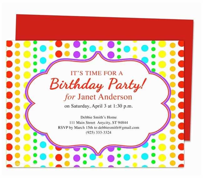 Birthday Party Invitation Text Birthday Party Invitation Template