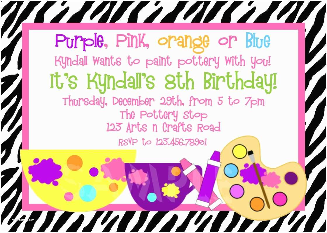 Birthday Party Invitation Text Message