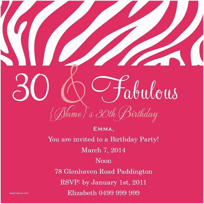 Birthday Party Invitation Wording Adult