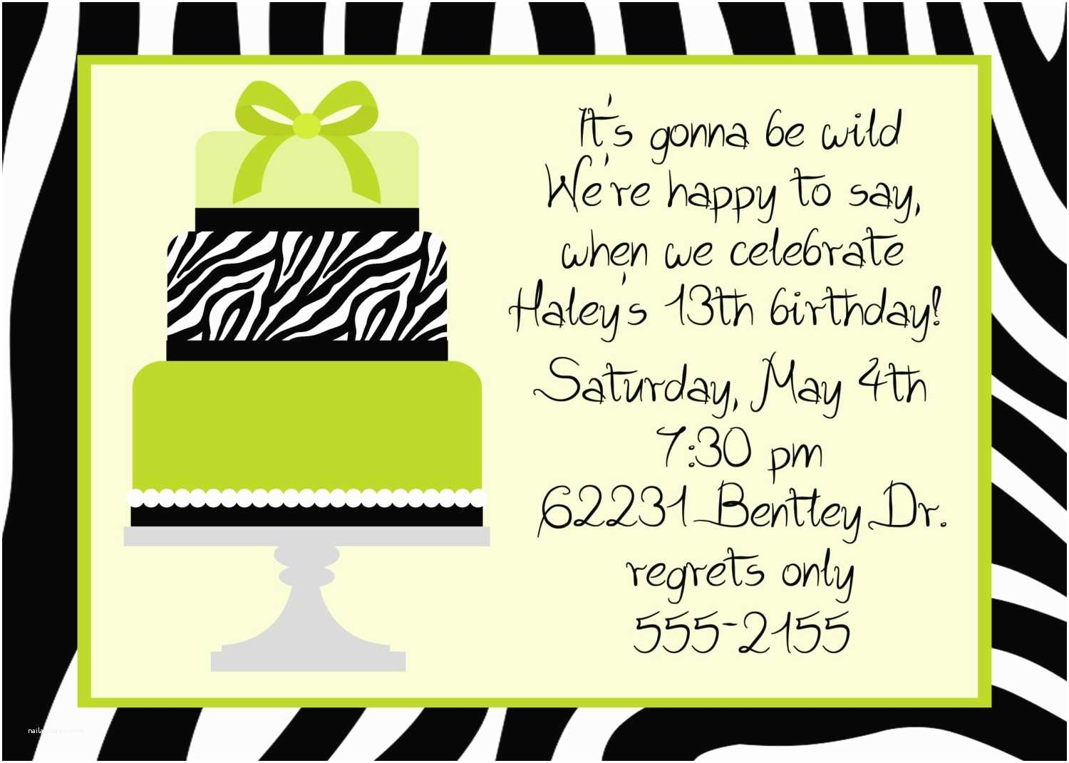 Birthday Party Invitation Wording Dinner