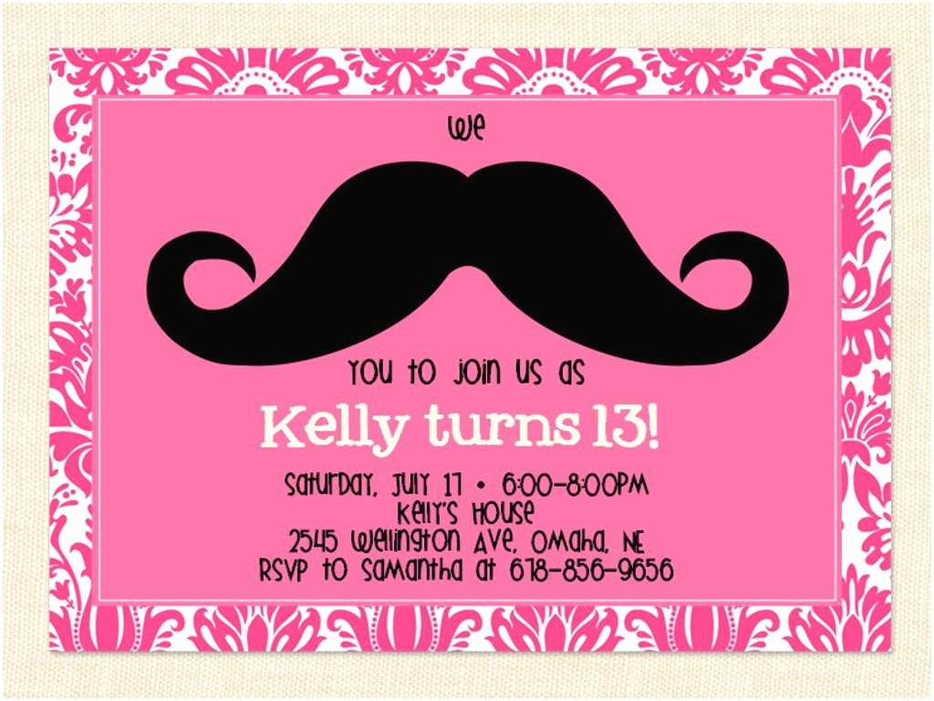 Birthday Party Invitations 13th Birthday Party Invitation Ideas – Bagvania Free
