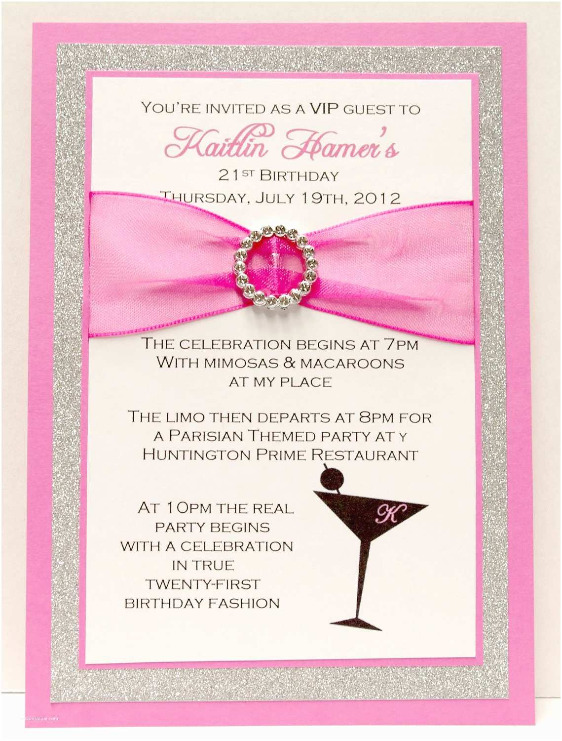 Birthday Party Invitations 21st Birthday Invitation Template