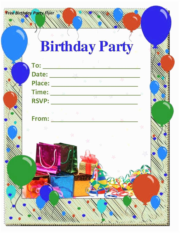Birthday Party Invitations 50 Free Birthday Invitation Templates – You Will