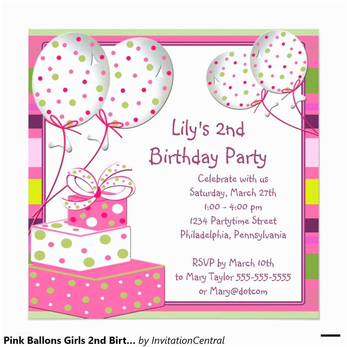 Birthday Party Invitations Birthday Party Invitation Card