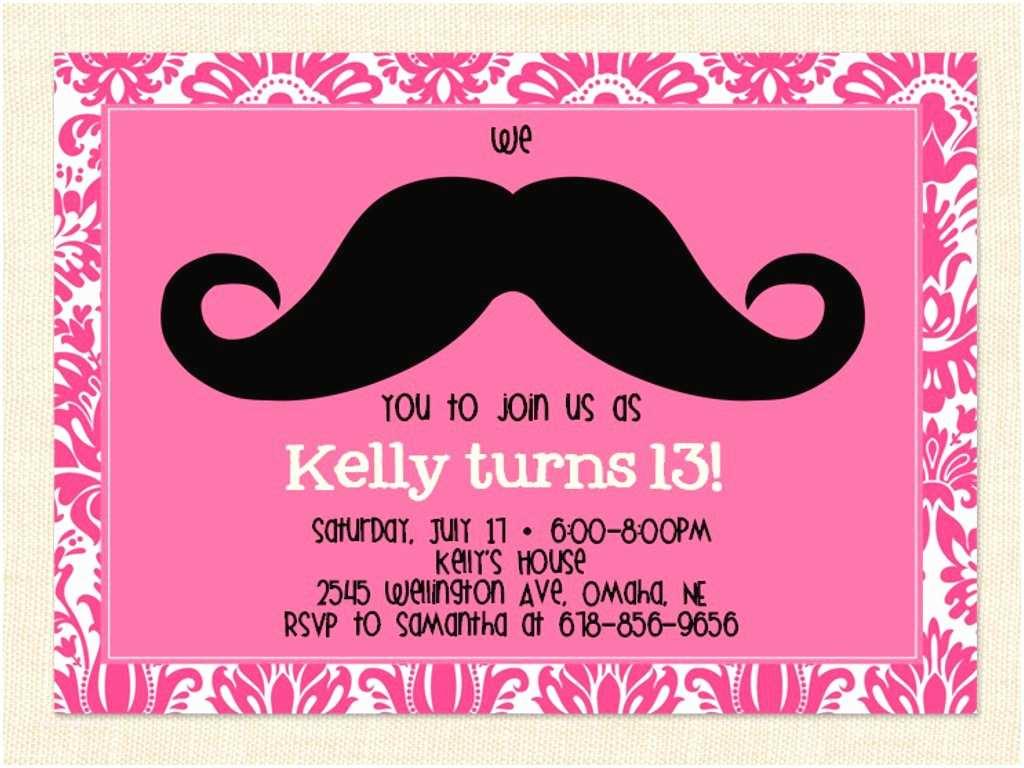Birthday Party Invitations Free 13th Birthday Party Invitation Ideas – Bagvania Free