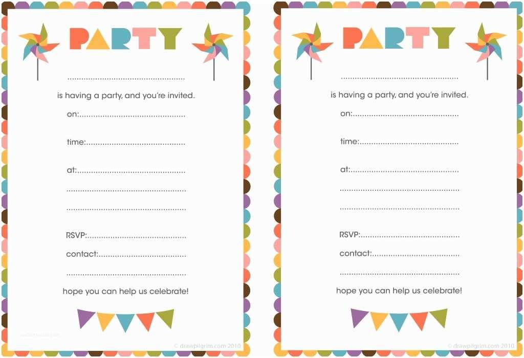 Birthday Party Invitations Free Free Printable Birthday Invitations for Kids Free