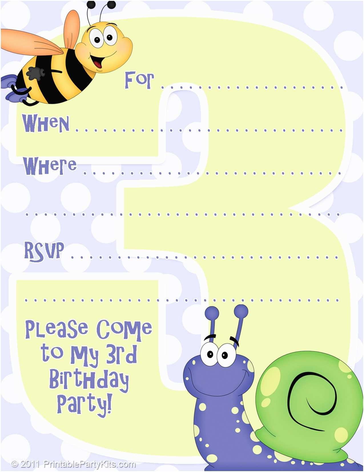 Birthday Party Invitations Free Free Printable Birthday Party Invitations