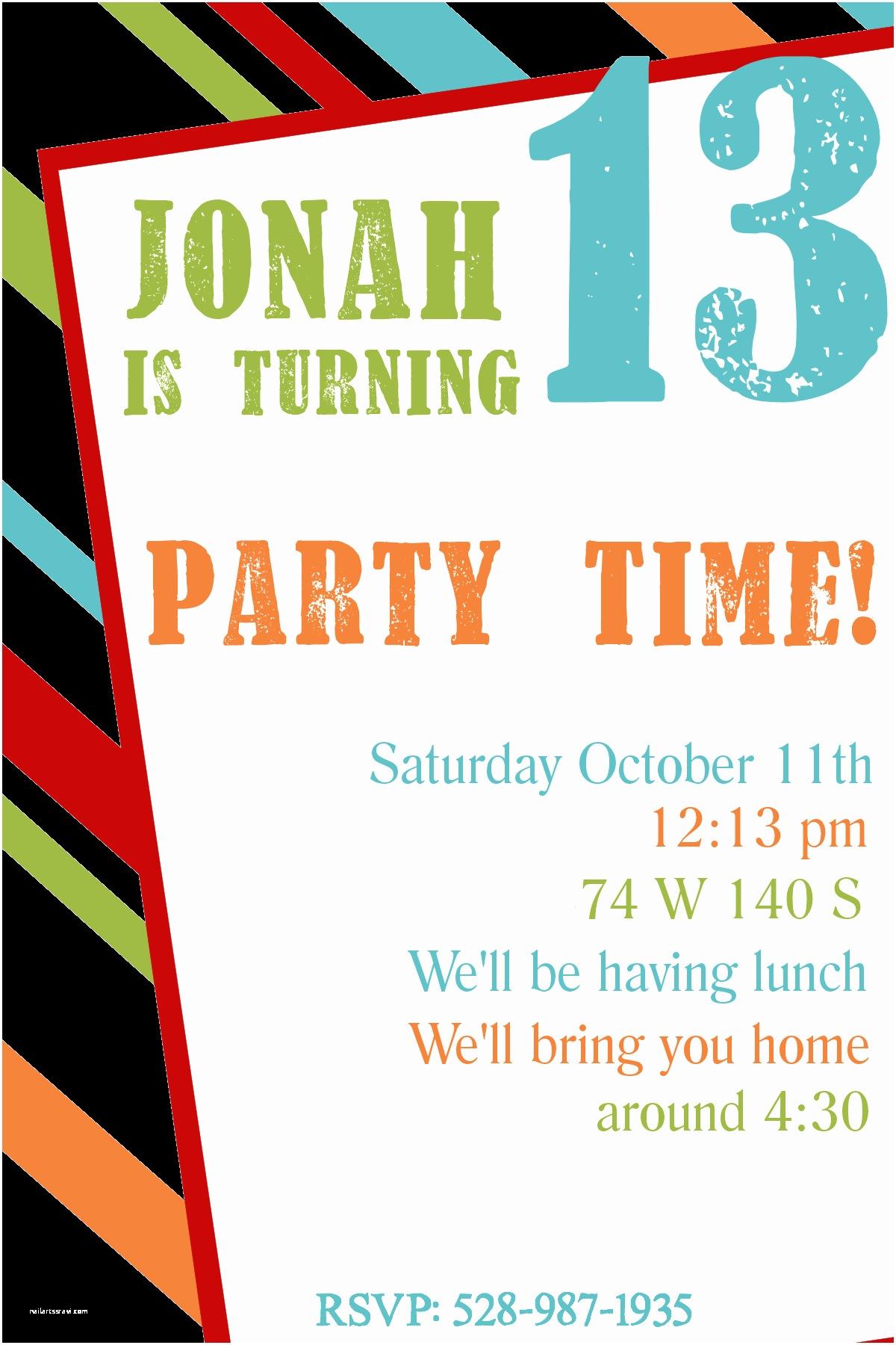 Birthday Party Invitations Free Printable Birthday Invitation