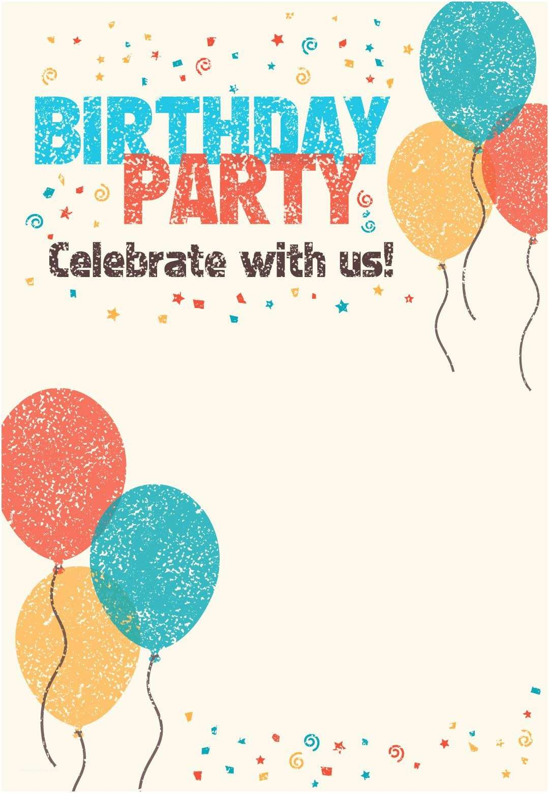 Birthday Party Invitations Free Printable Celebrate with Us Invitation Great Site